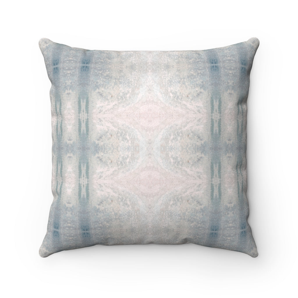 Aquarius/Reef ~ Seafoam ~ Faux Suede Square Pillow