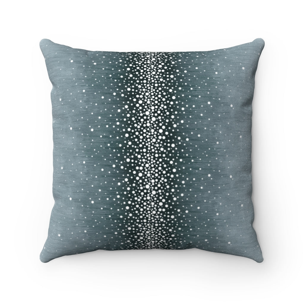 Rain ~ Spruce ~ Faux Suede Square Pillow