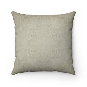 Watermark ~ Sand ~ Faux Suede Square Pillow
