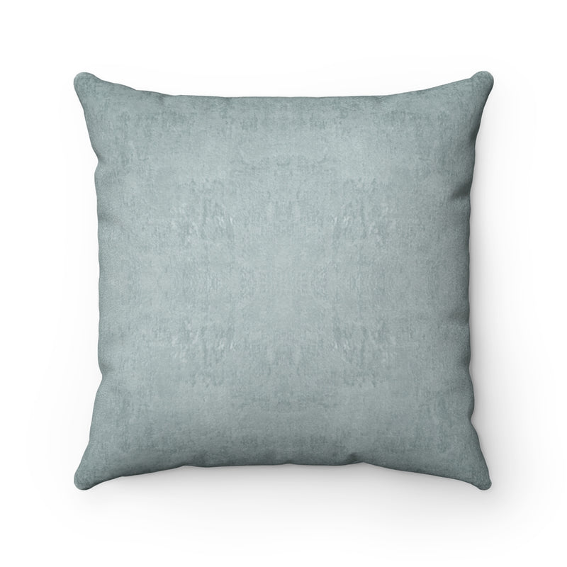 Watermark ~ Sea Glass ~ Faux Suede Square Pillow