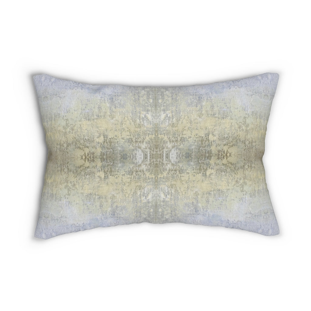 Spaces/Open ~ Sand ~ Spun Polyester Lumbar Pillow