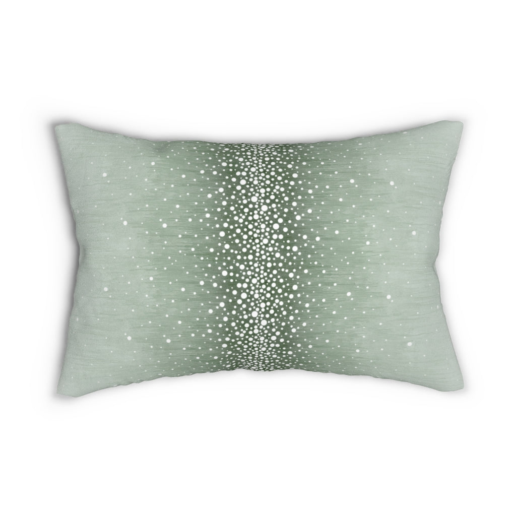Rain ~ Ice ~ Spun Polyester Lumbar Pillow