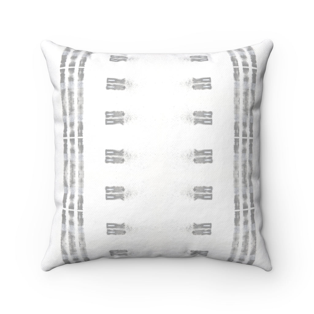 Family Ties ~ Grey ~ Spun Polyester Square Pillow