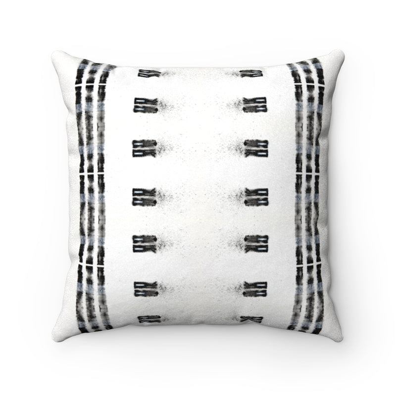 Family Ties ~ B&W ~ Faux Suede Square Pillow