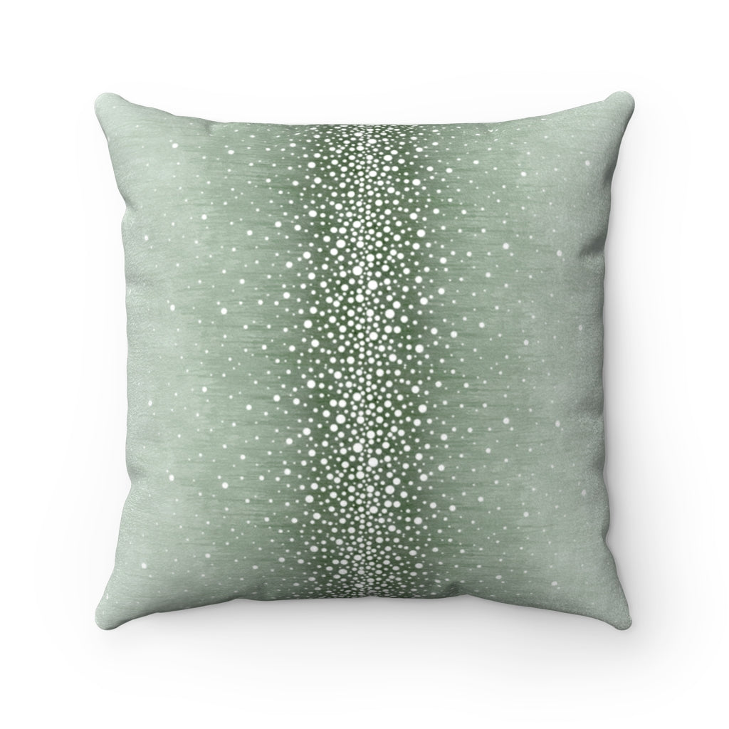 Rain ~ Ice ~ Faux Suede Square Pillow
