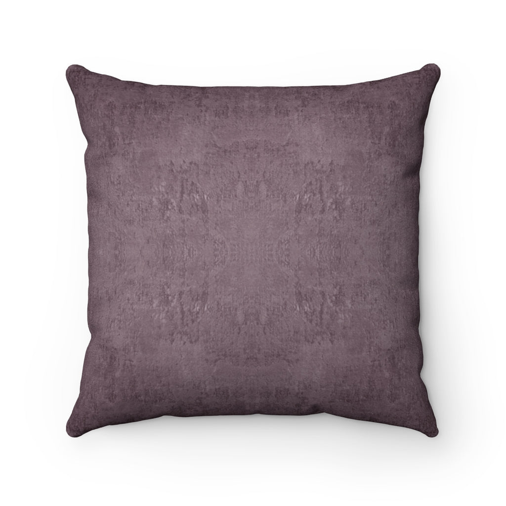 Watermark ~ Plum ~ Faux Suede Square Pillow