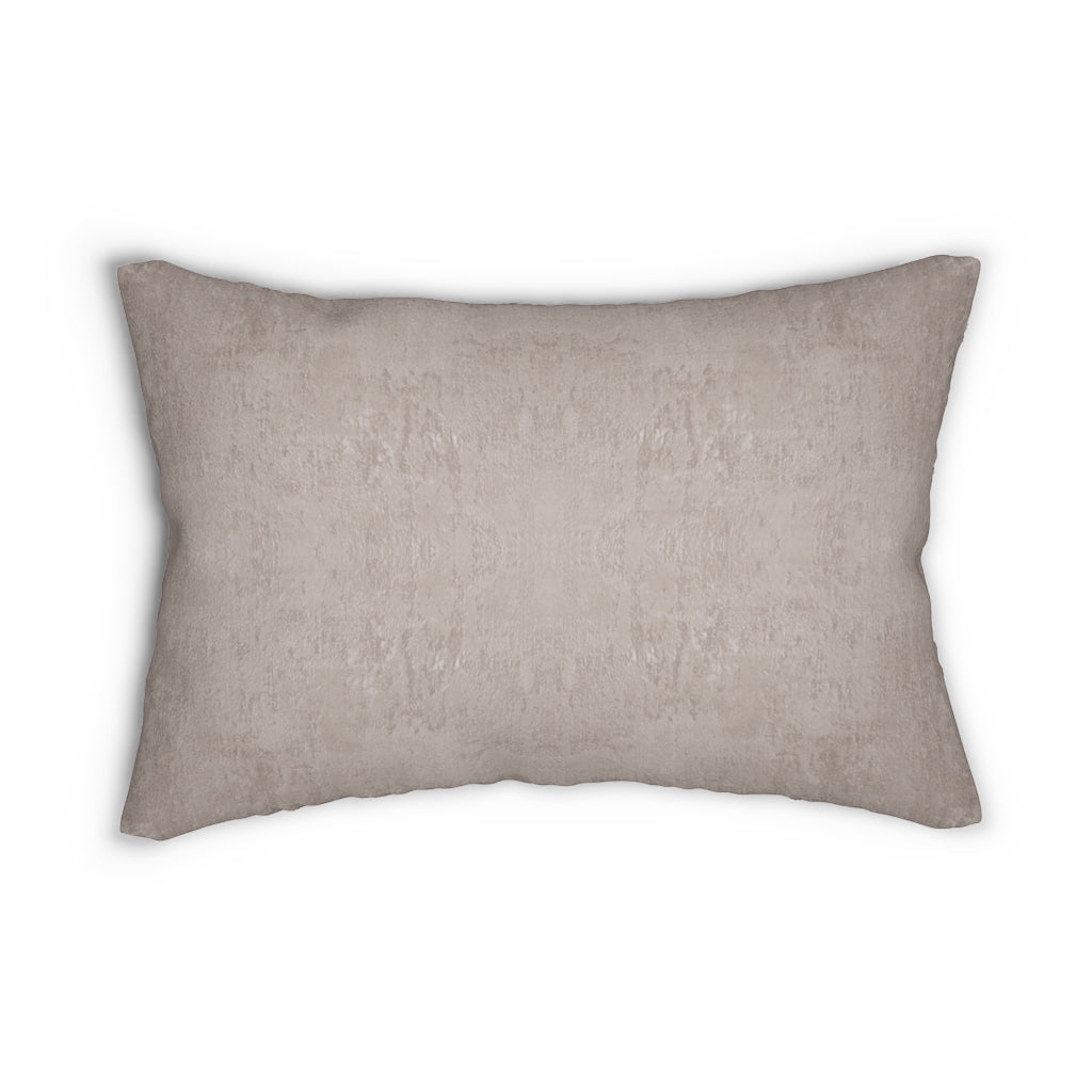 Watermark ~ Shell ~ Spun Polyester Lumbar Pillow