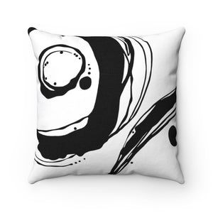 Orbit ~ B&W ~ Spun Polyester Square Pillow