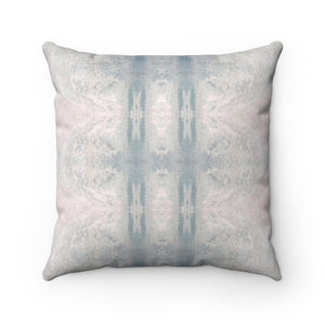 Aquarius/Ripple ~ Seafoam ~ Faux Suede Square Pillow