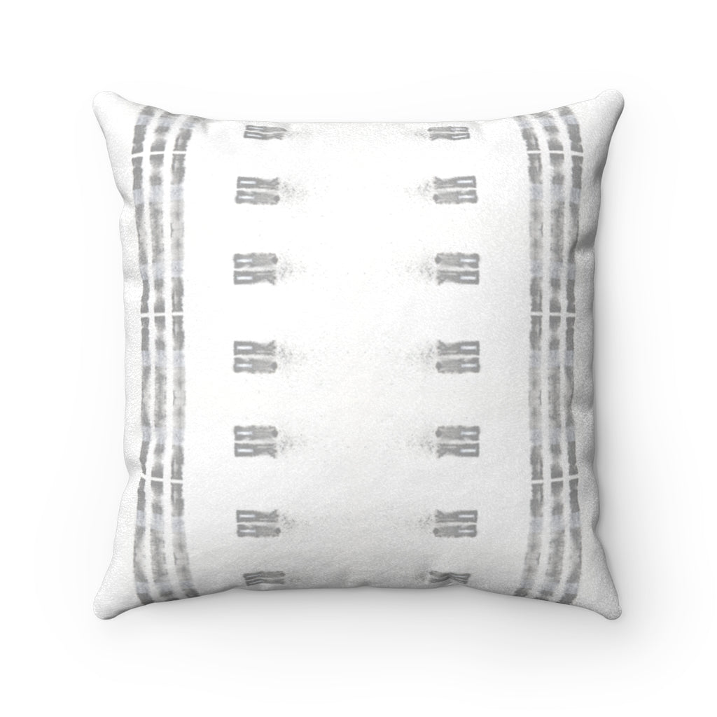 Family Ties ~ Grey ~ Faux Suede Square Pillow