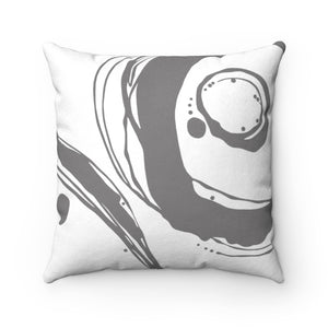 Orbit ~ Grey ~ Faux Suede Square Pillow