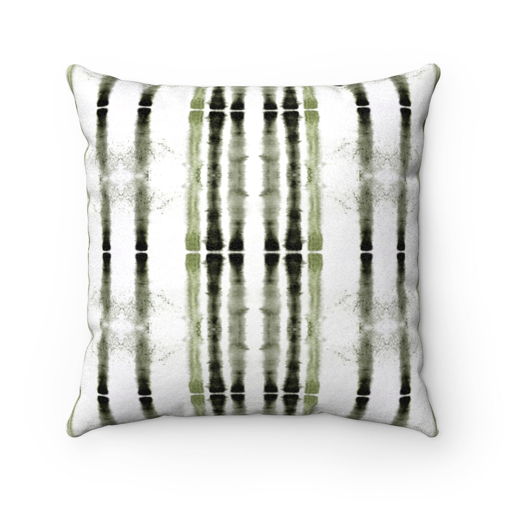 Lifeline ~ Sage ~ Faux Suede Square Pillow