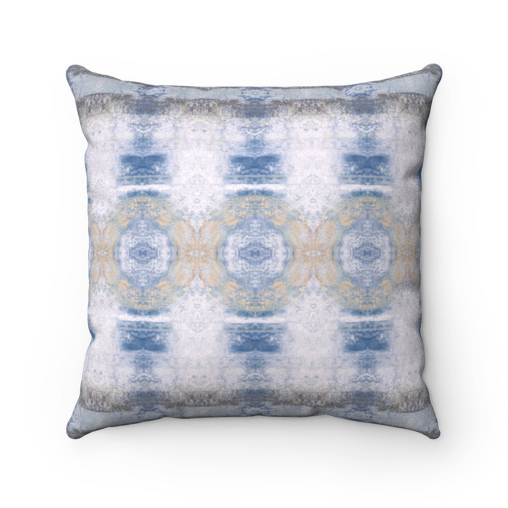 Aquarius/Shell ~ Ocean ~ Faux Suede Square Pillow