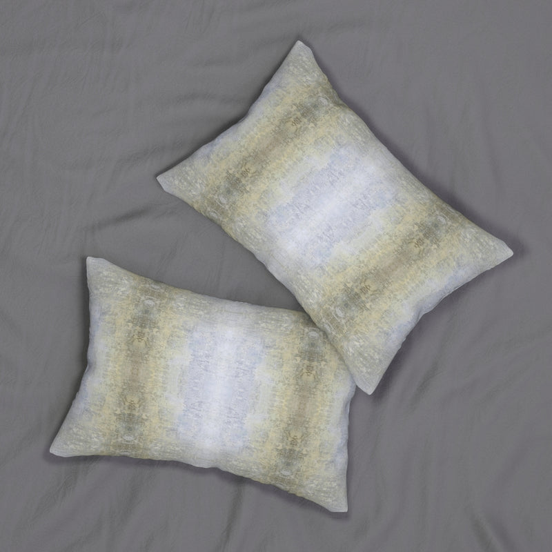 Spaces/Between ~ Sand ~ Spun Polyester Lumbar Pillow