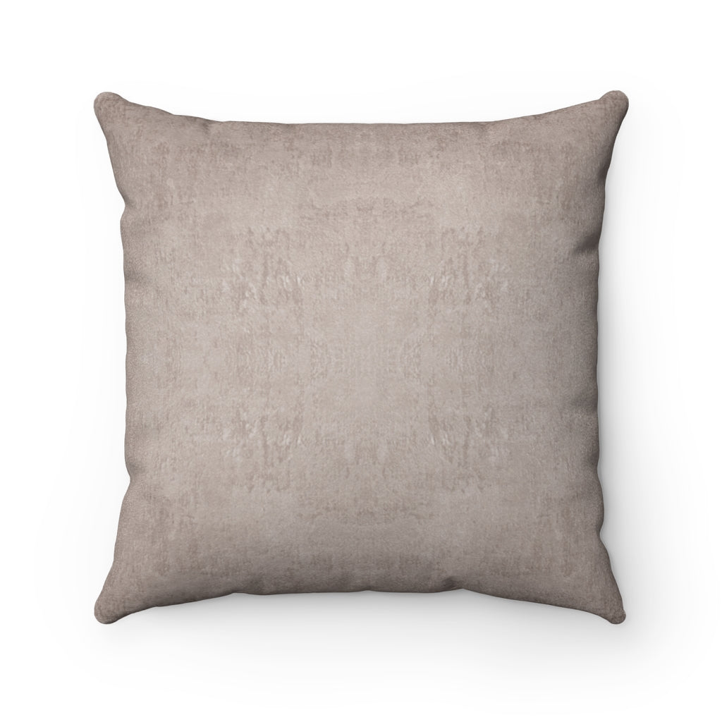 Watermark ~ Shell ~ Faux Suede Square Pillow