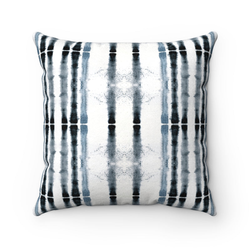 Lifeline ~ Indigo ~ Faux Suede Square Pillow