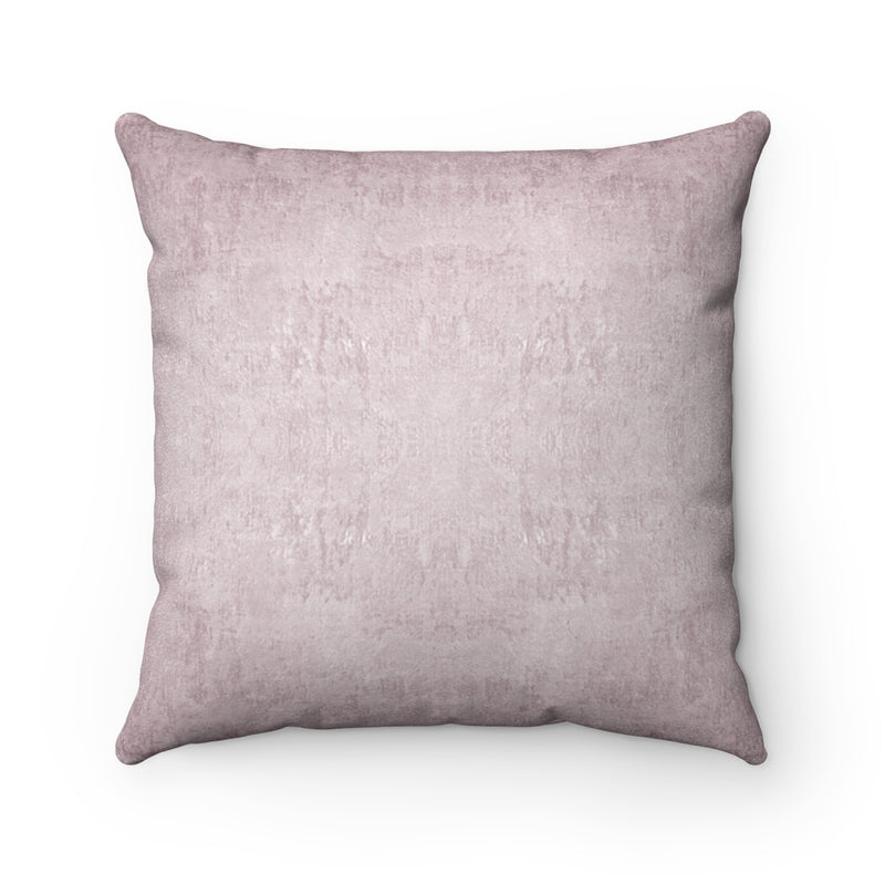 Watermark ~ Blush ~ Faux Suede Square Pillow