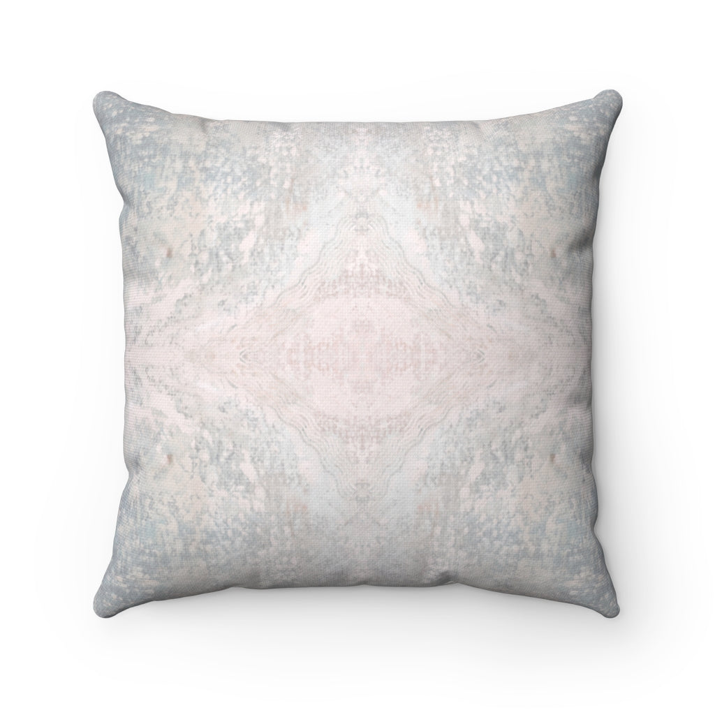 Aquarius/Diadem ~ Seafoam ~ Spun Polyester Square Pillow
