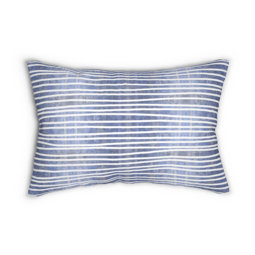 Aligned ~ Water ~ Spun Polyester Lumbar Pillow