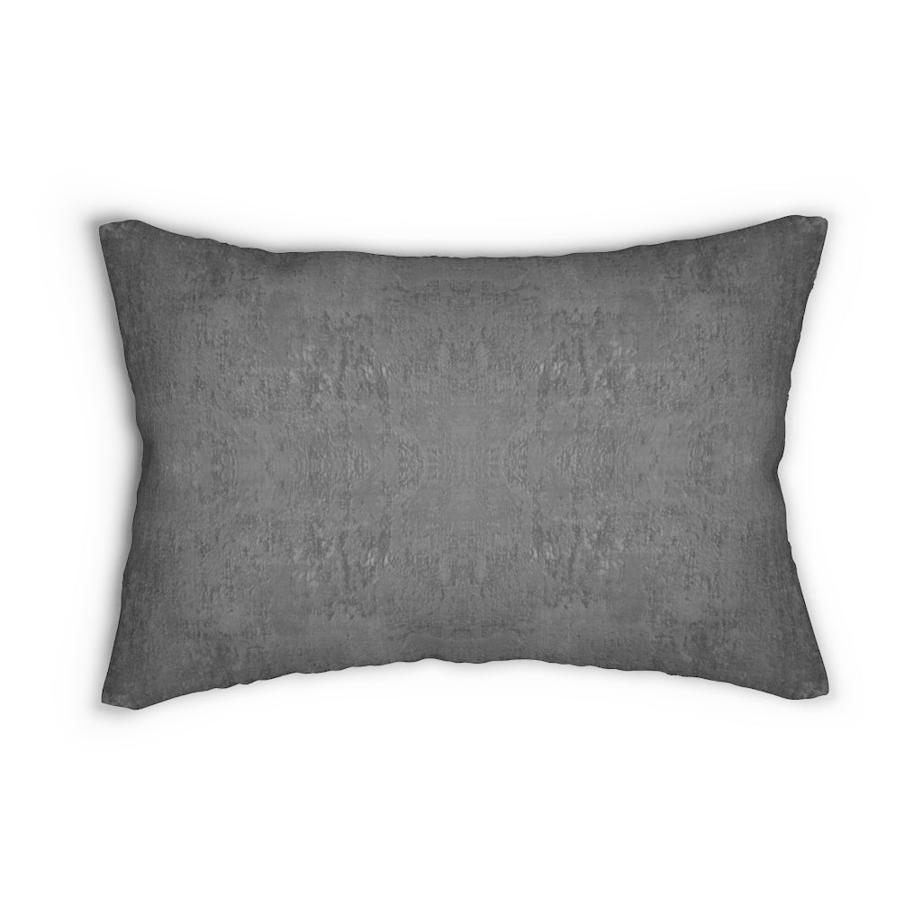 Watermark ~ Charcoal ~ Spun Polyester Lumbar Pillow