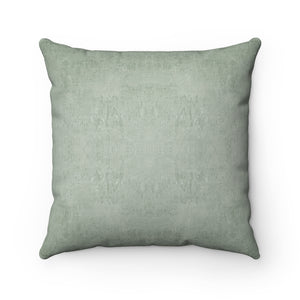 Watermark ~ Sage ~ Spun Polyester Square Pillow