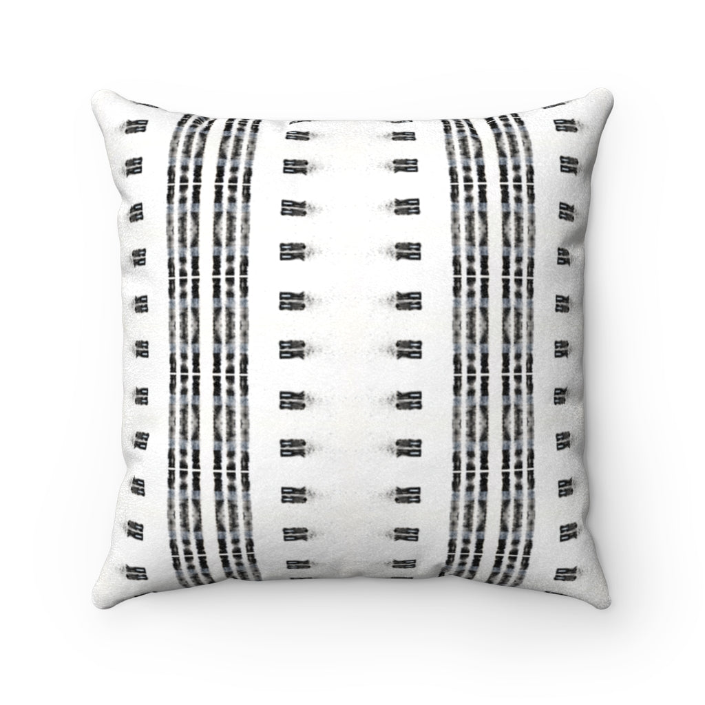 Family Gatherings ~ B&W ~ Faux Suede Square Pillow
