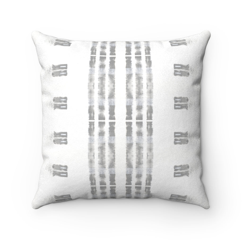 Family Values ~ Grey ~ Faux Suede Square Pillow