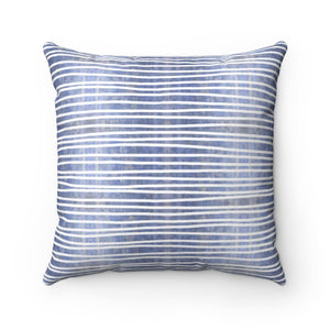 Aligned ~ Water ~ Faux Suede Square Pillow