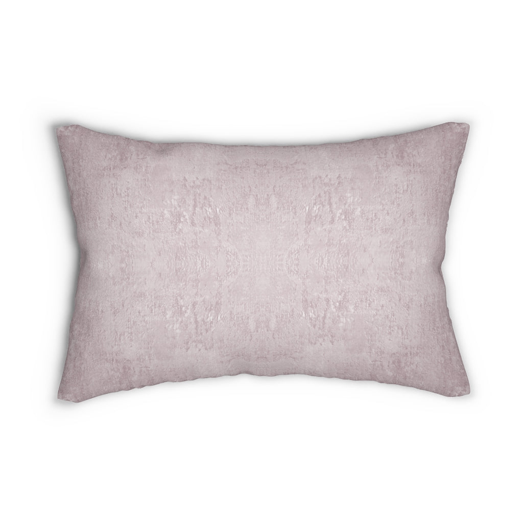 Watermark ~ Blush ~ Spun Polyester Lumbar Pillow