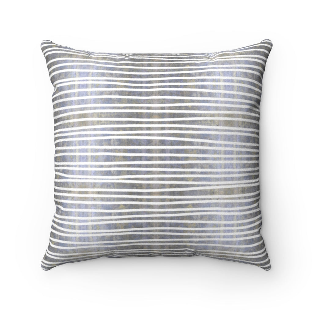 Aligned ~ Memory ~ Faux Suede Square Pillow