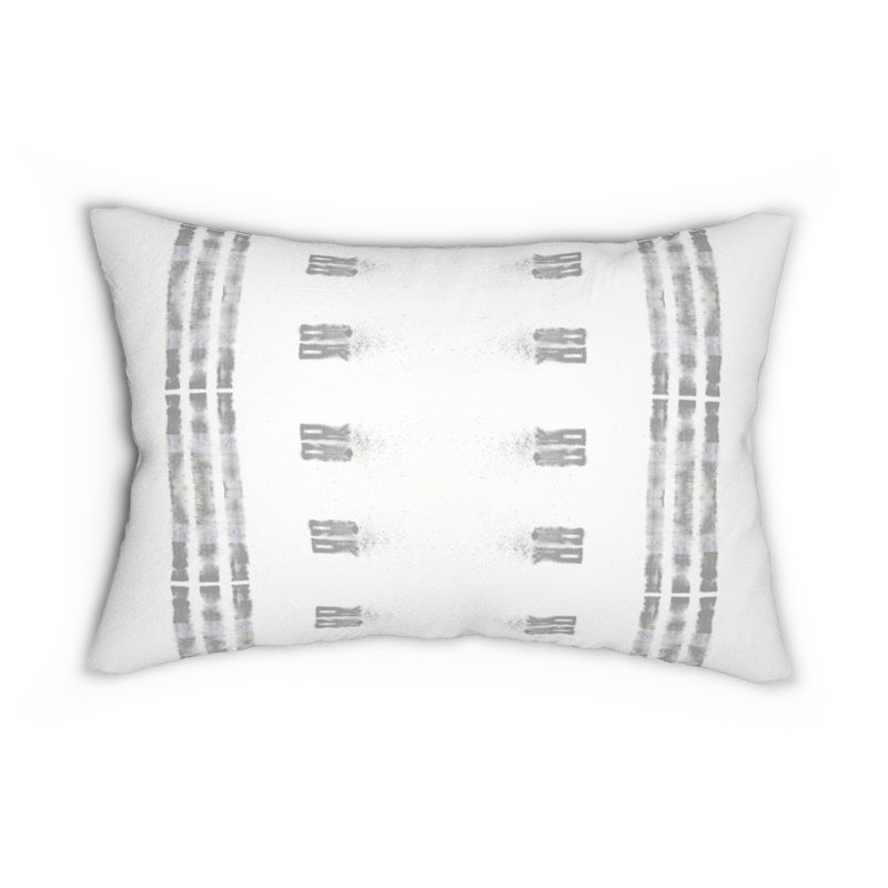 Family Ties ~ Grey ~ Spun Polyester Lumbar Pillow
