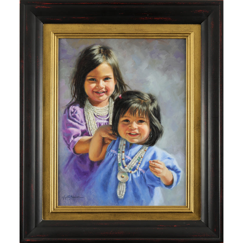 "Apache Sisters ~ 18"" x 14"" ~ SOLD"