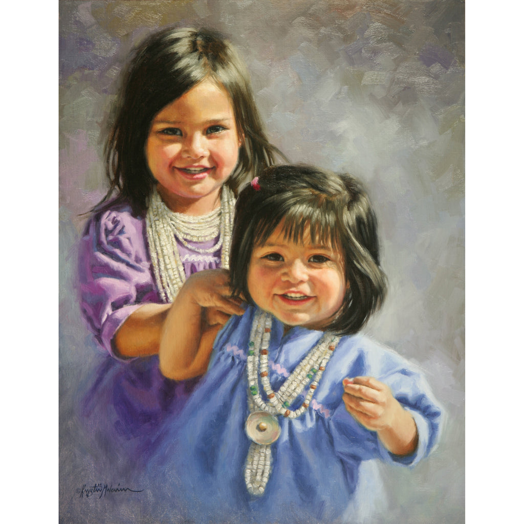 "SOLD Apache Sisters ~ 18"" x 14"""