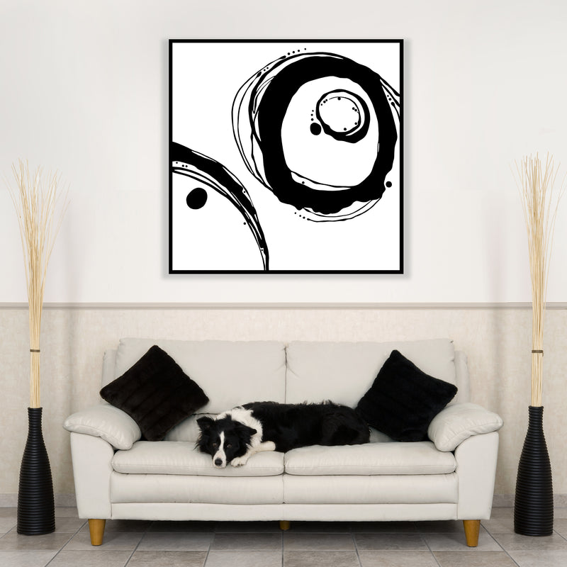 Orbit Variations - Black on White Giclée