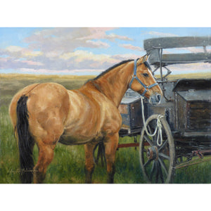 "Buckskin and Buckboard ~ 12""x16"""