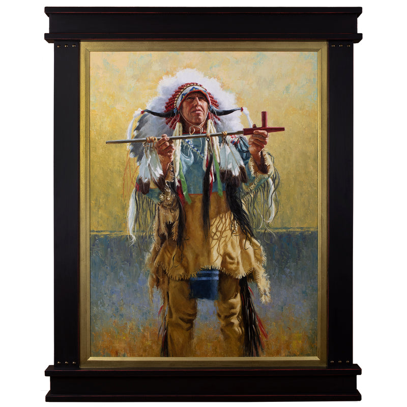 "Channunpa Wakhan - The Sacred Pipe, Lakota  40"" x 30"""
