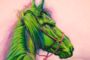 "Mustang - Red, Green, Blue  50"" x 16"""