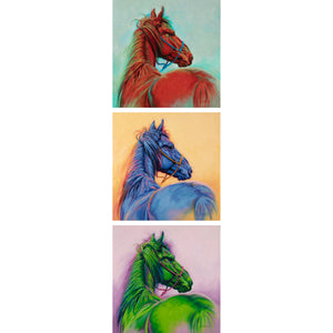 Mustang - Red, Blue, Green - Giclée