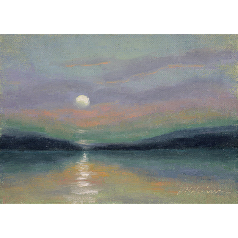 "Lake Moonrise ~ 5"" x 7"""