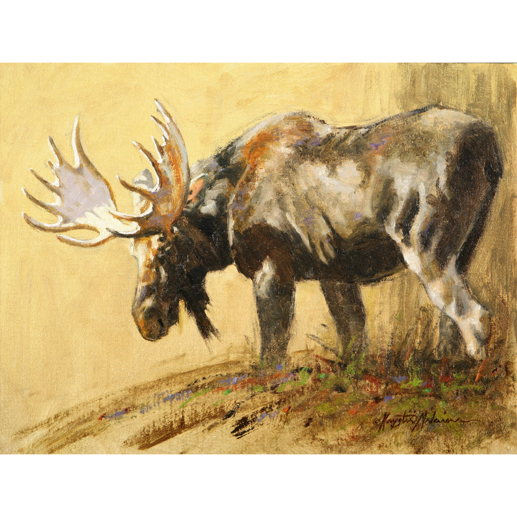 "Moose Musings - 9""x12"""