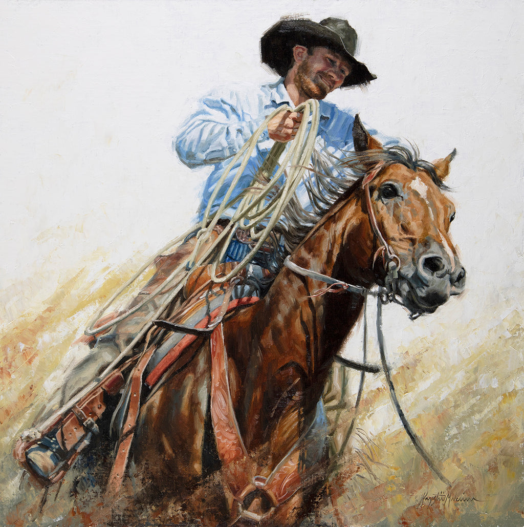 "Moving As One  20"" x 20"" - Briscoe Western Art Museum"