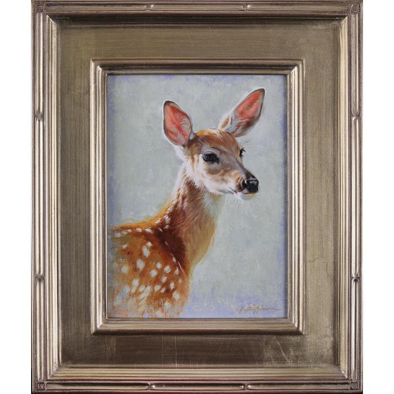 "SOLD Pink Ears - Whitetail Fawn  12""x9"""