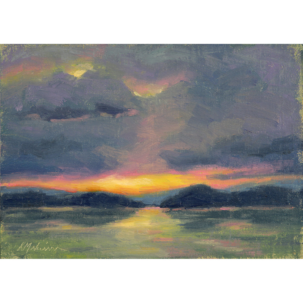 "Priest Lake Sunset ~ 5"" x 7"""