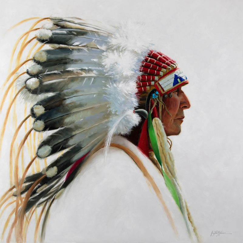Waphaha Hethunpi - The Horned Headdress ~ Petite Giclée