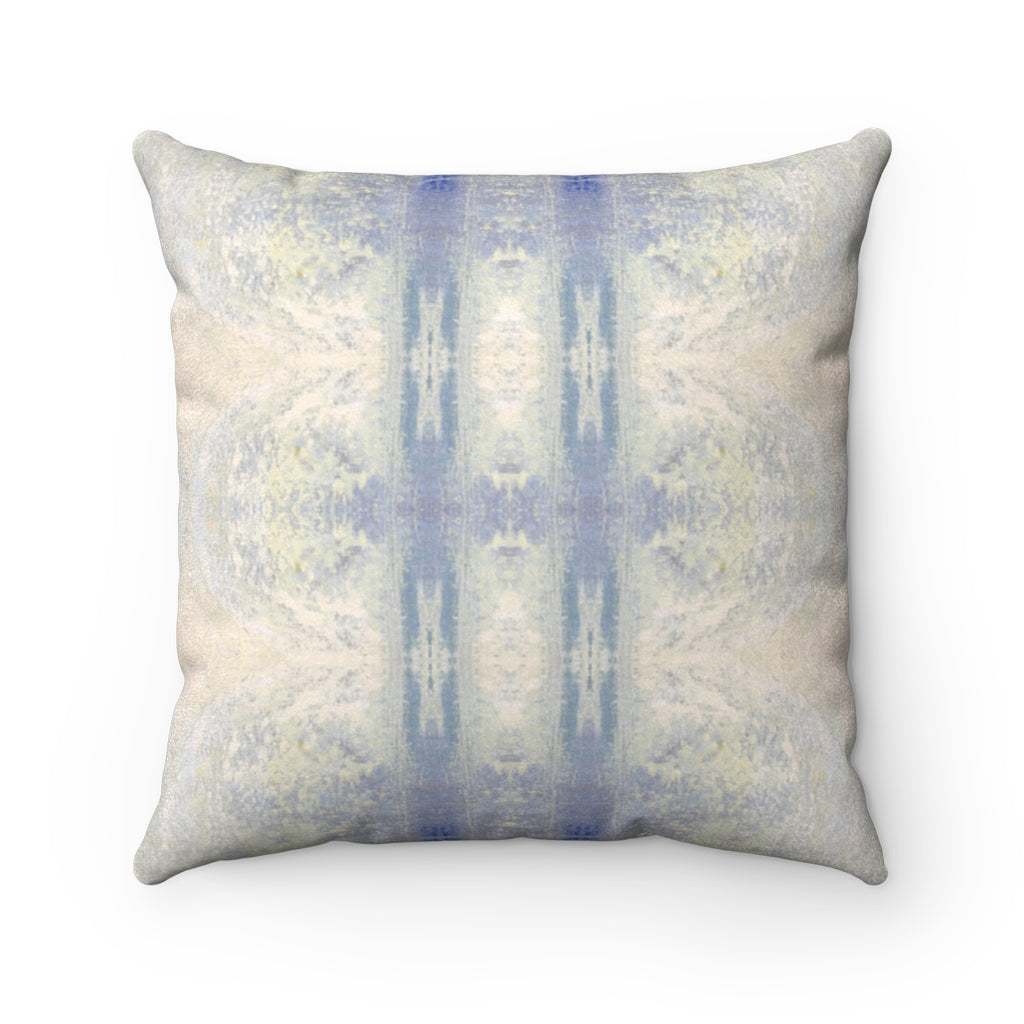 Aquarius/Ripple ~ Ocean ~ Faux Suede Square Pillow