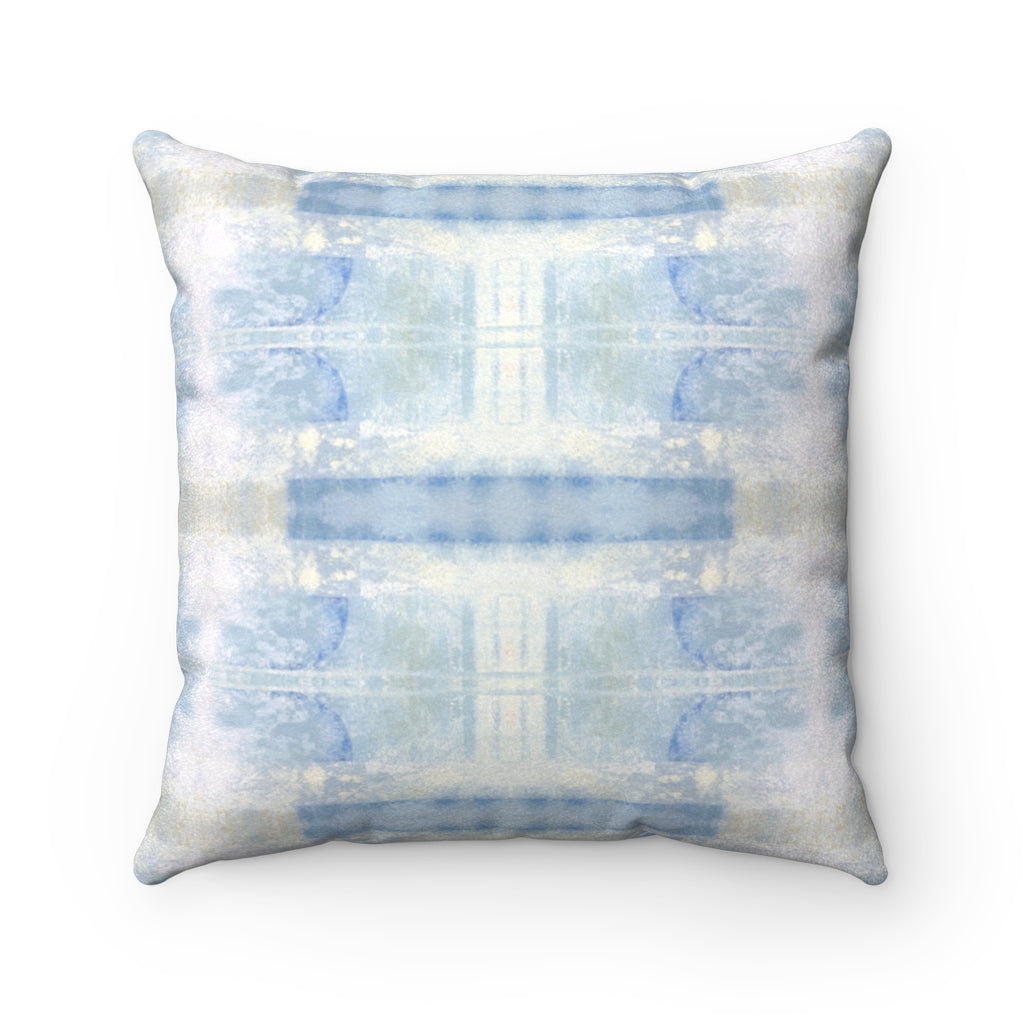 Aquarius/Delta ~ Seafoam ~ Faux Suede Square Pillow