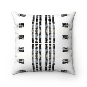 Family Values ~ B&W ~ Faux Suede Square Pillow