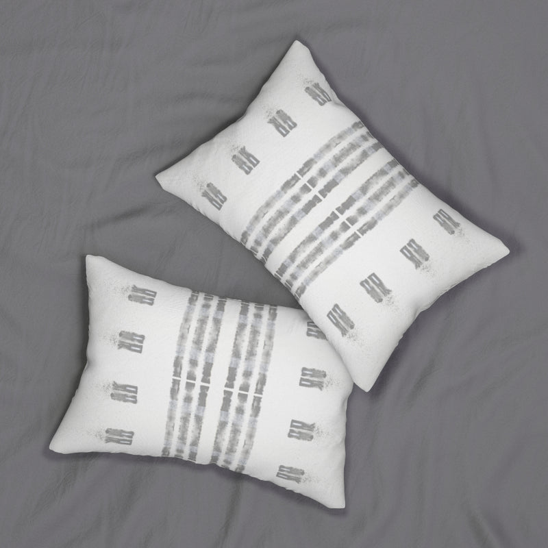 Family Values ~ Grey ~ Spun Polyester Lumbar Pillow