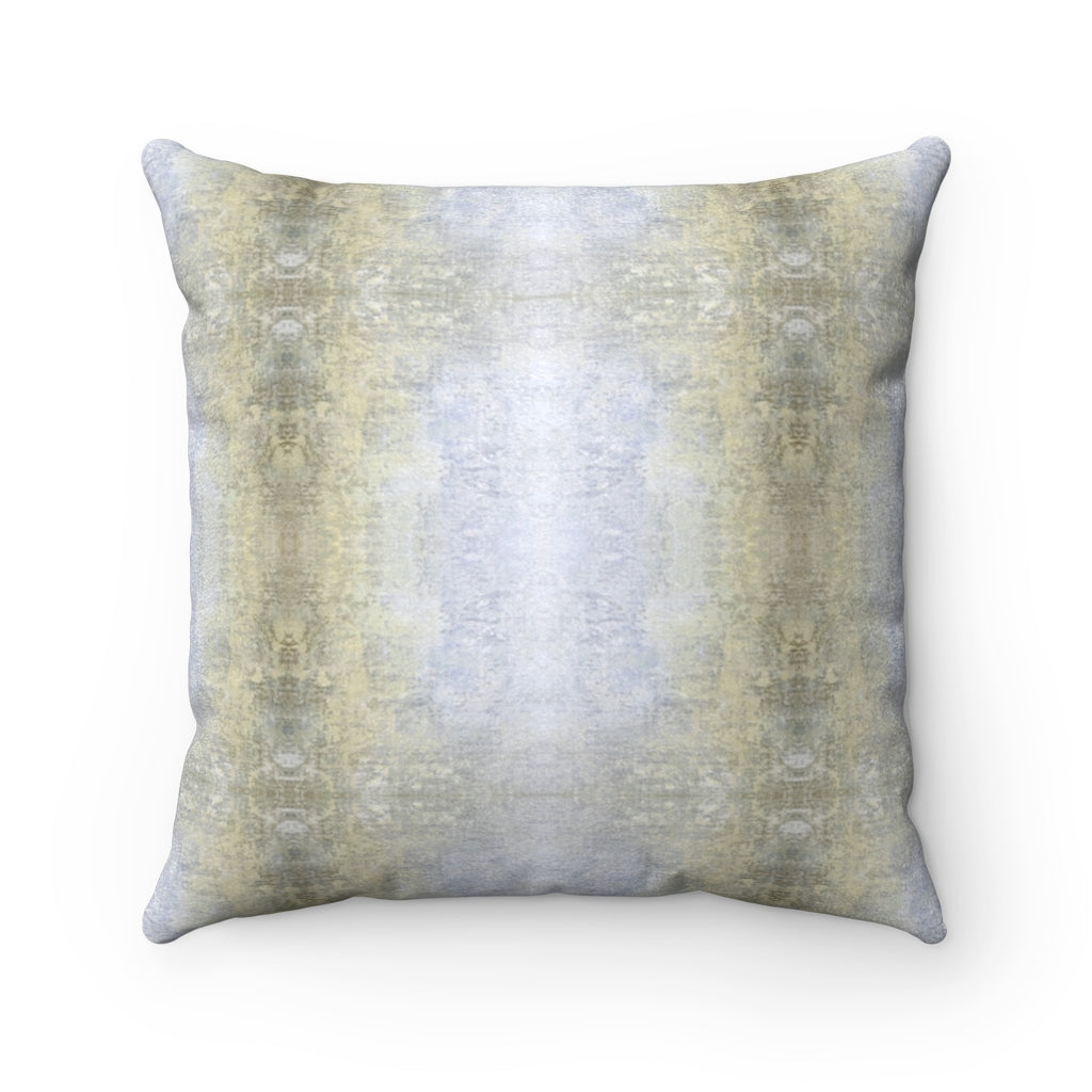 Spaces/Between ~ Sand ~ Faux Suede Square Pillow