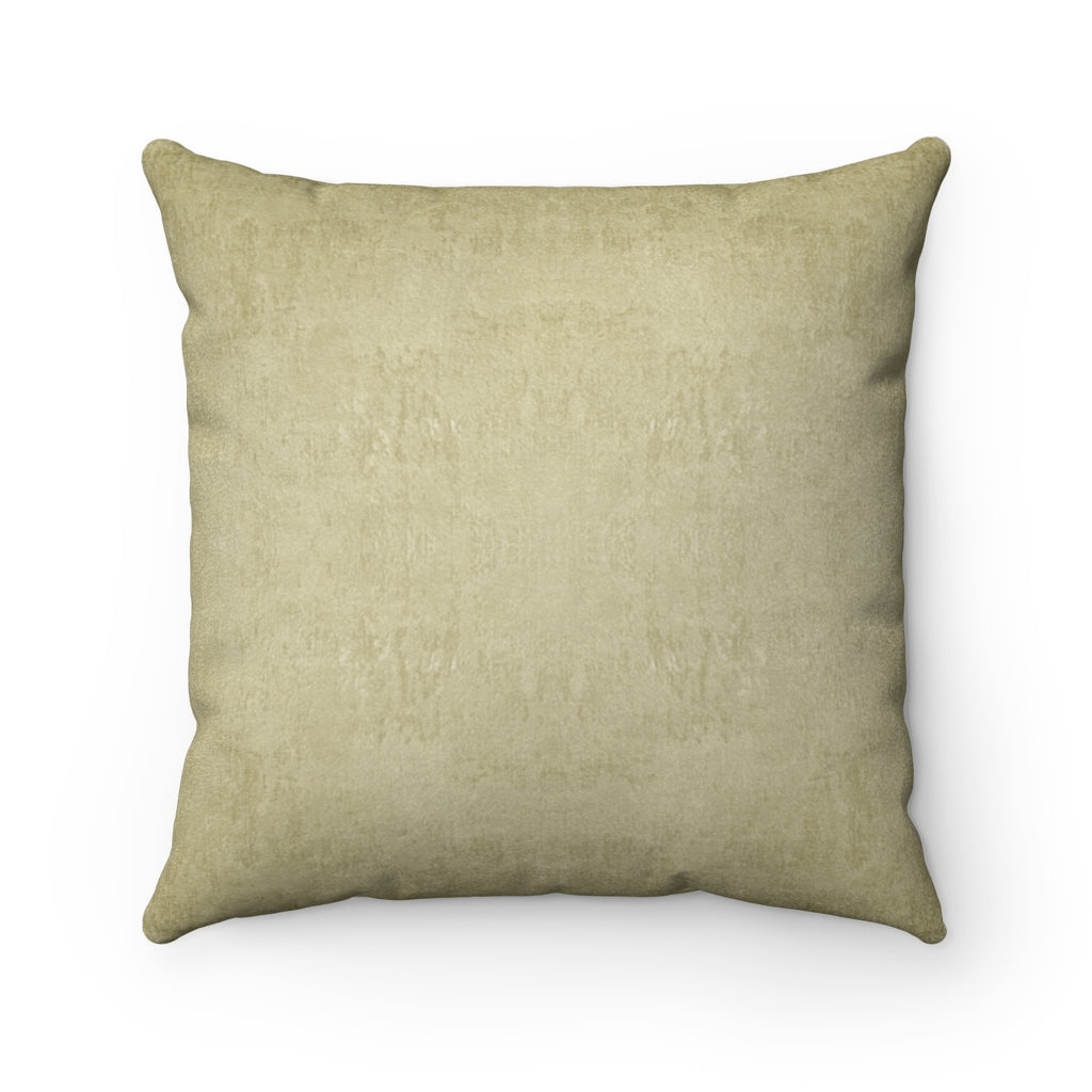 Watermark ~ Gold ~ Faux Suede Square Pillow